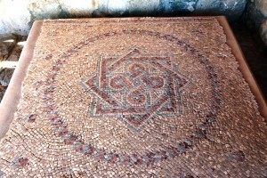 Seal of Melchizedek mosaic from a Christian church at Khirbet near Jerusalem