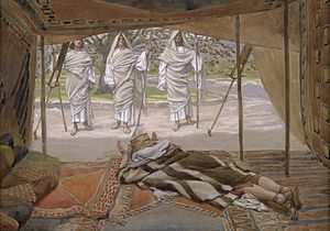 Abraham and the Three Angels  by  J.Tissot
