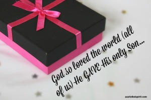 God so loved the world...