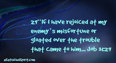 If I have rejoiced at my enemy's misfortune...