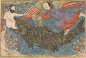 Jonah and the Whale in the Jami' al-tawarikh (c. 1400), Metropolitan Museum of Art