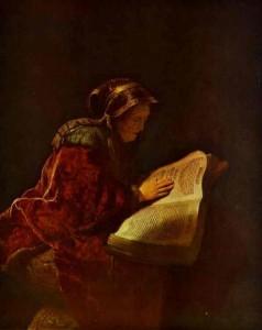 Anna by Rembrandt