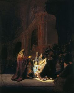 Simeon at the Presentation of the Child by Rembrandt