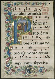 lossy-page1-176px-Attavante_degli_Attavanti_-_Leaf_from_a_Gradual-_Initial_P_with_the_Nativity_-_2003.173_-_Cleveland_Museum_of_Art.tif